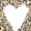 Royalty-Free Stock Photo: Pebbles heart frame