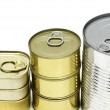 Isolated Cans — Stock Photo