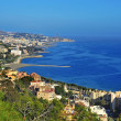 Aerial view of northern coastline of Malaga, Spain — Stock Photo