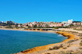 Miracle Beach and panoramic view of Tarragona, Spain — Foto de Stock