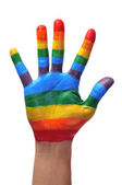 Gay hand — Stock Photo