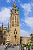 Cathedral and La Giralda in Seville, Spain — Stock Photo
