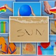 Royalty-Free Stock Photo: Summer collage