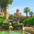 Alcazar de los Reyes Cristianos in Cordoba, Spain - Stock Photo