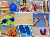 Kolaż lato — Zdjęcie stockowe