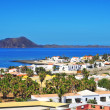 Lobos Island and Corralejo in Fuerteventura, Spain — Stock Photo