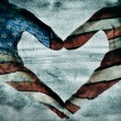Stock Photo: Love for america