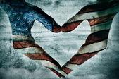Amor para américa — Foto de Stock