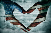 Love for america — Foto de Stock
