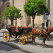 Carriages in Seville, Spain - Stock Photo
