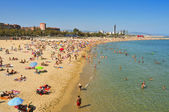 La Nova Icaria Beach, in Barcelona, Spain — Stock Photo