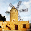 A view of a typical windmill in Mallorca, Balearic Islands, Spain — Stock Photo