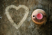 Heart on a wall — Stock Photo