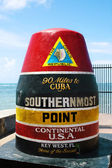 Southernmost point in continental USA in key west,florida — Stock Photo