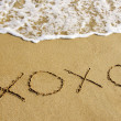Xoxo in the sand — Stock Photo
