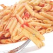 Penne with tomato sauce — Stock Photo