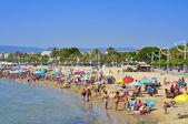 Playa fores prat de at, en cambrils, españa — Foto de Stock