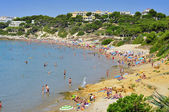 Playa de platja llarga, en salou, españa — Foto de Stock