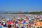 Praia de llevant, em salou, espanha — Foto Stock