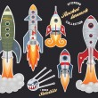 Rocket launch — Vector de stock