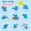 Royalty-Free Stock Vector Image: Blue birds