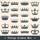Crown set2 — Stock Vector