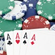 Four aces for win — Foto de Stock