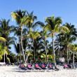 Mayan Riviera tropical beach — Stock Photo