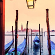 View of SGiorgio maggiore with gondolas — Stock Photo #11356632