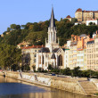 Stock Photo: Part of the city of Lyon