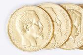 Niektóre francuskie złote monety — Zdjęcie stockowe