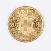 Swiss gold coin — Foto de Stock