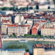Lyon tilt shift - Stock Photo