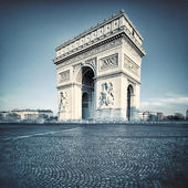 Arc de Triomphe with special photographic processing — Stock Photo