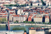 Lyon tilt shift — Stock Photo