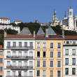 Fourviere basilica and building — Stock Photo
