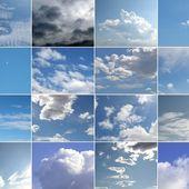 Collage de cielo azul — Foto de Stock