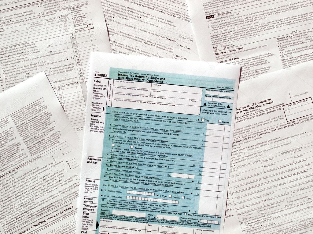 Range of various blank USA tax forms — Stock Photo #11079862