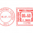 Stock Photo: Postage meter stamp