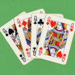 Poker of queens cards — Stock Photo