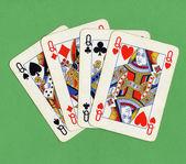 Poker of queens cards — ストック写真