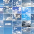 Blue sky collage — Stockfoto