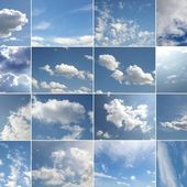 Blue sky collage — Stock Photo