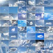 蓝蓝的天空拼贴画 — 图库照片