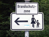 Pedestrian area sign — Stock Photo