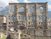 Roman Theatre Aosta — Stock Photo