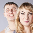 Young happy smiling attractive couple together — Stock Photo