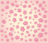 Background animal footprints — Stock Vector