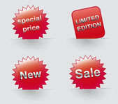 Sale icons, Special offer. Vector sticker — Stock Vector