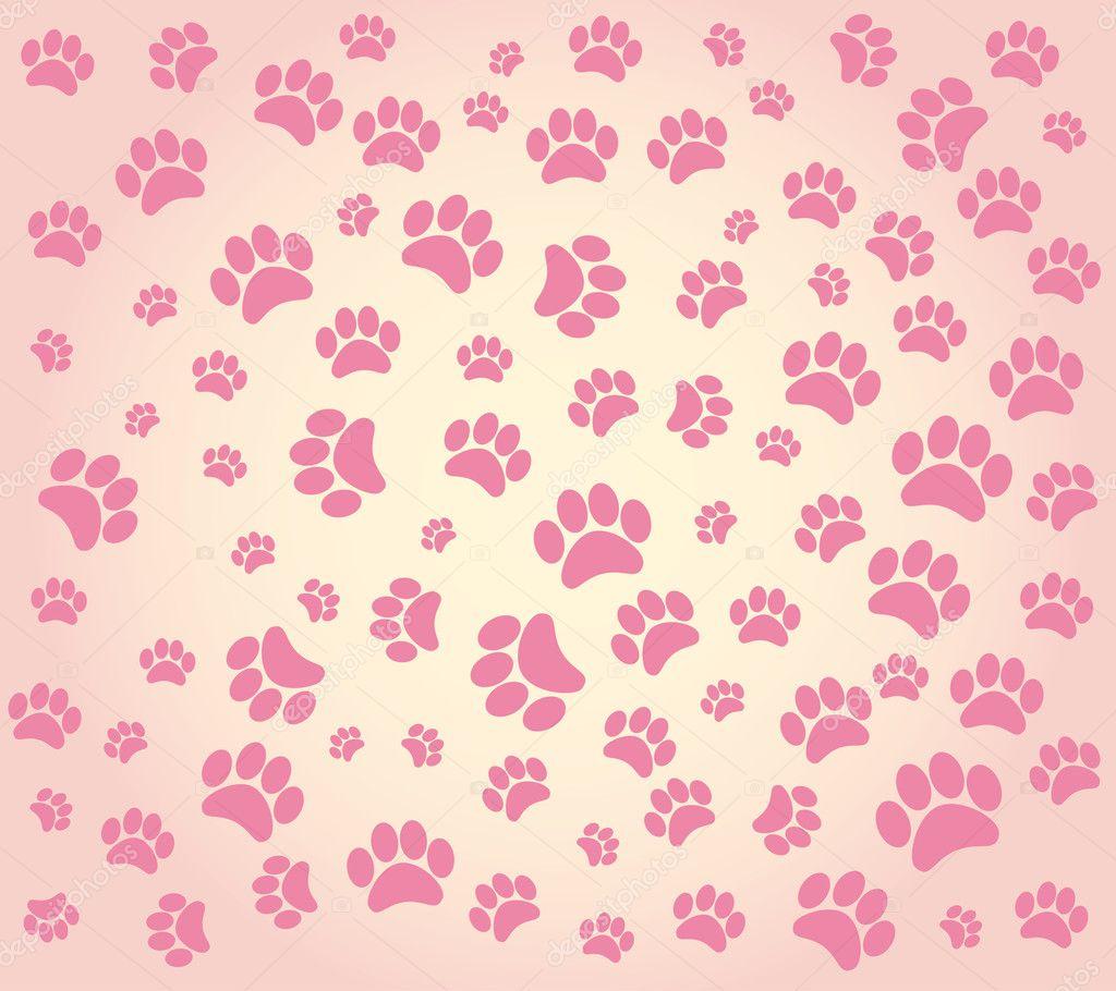 Background Animal Footprints Stock Vector 169 876896789